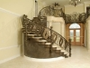 Grand Custom Metal Staircase with Catwalk and Railings