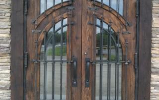 custom metal restaurant door at the Venetian in Las Vegas